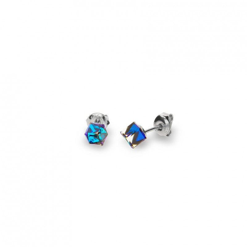 Cube Studs Small Bermuda Blue.