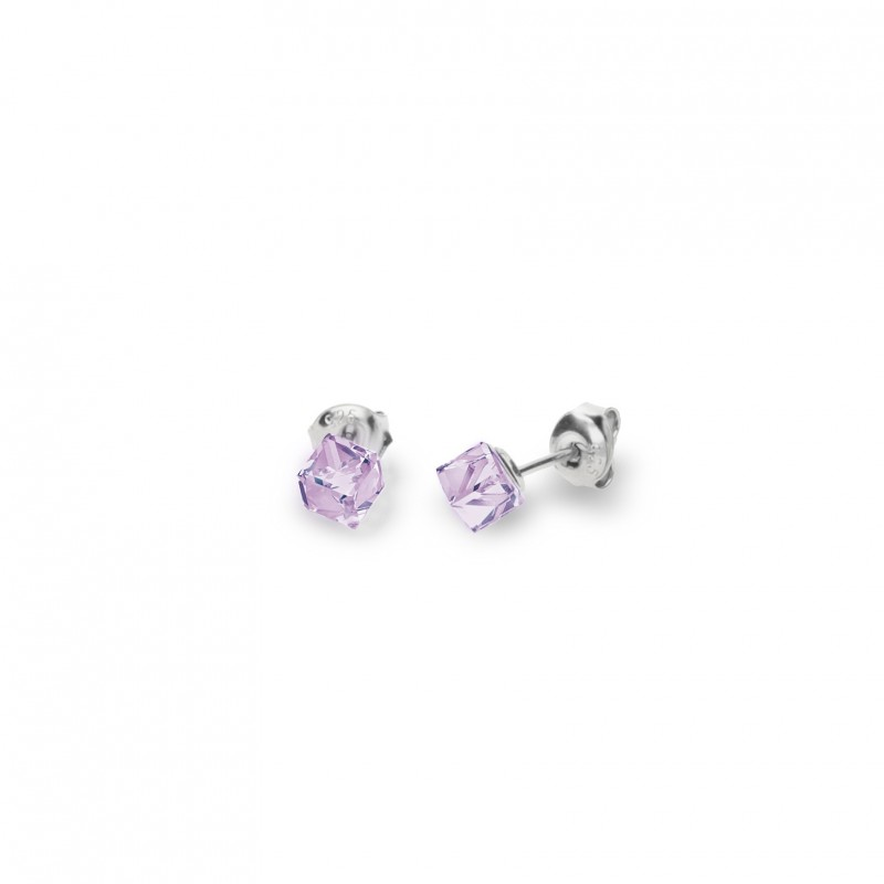 Cube Studs Small Violet.