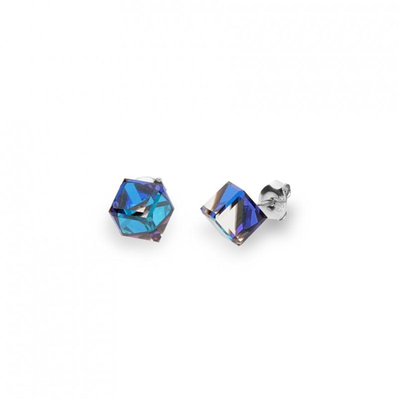 Cube Studs Medium Bermuda Blue.