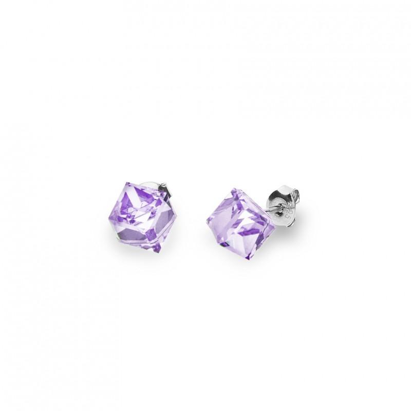Cube Studs Medium Violet.