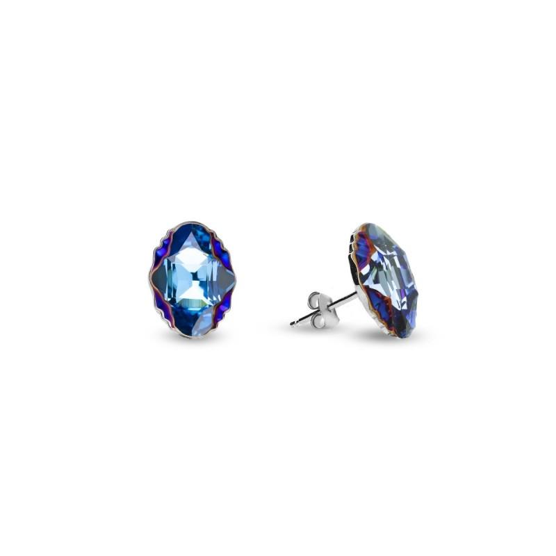 Delia Studs Aquamarine Metallic Blue