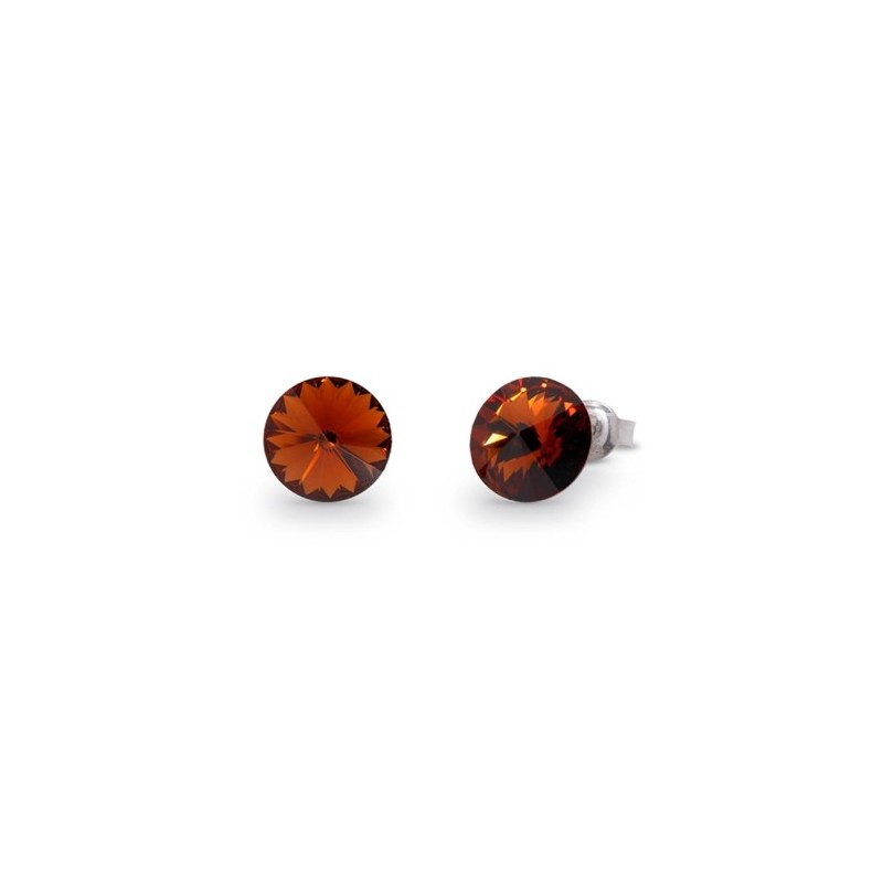 Sweet Candy Studs  Smoked Topaz