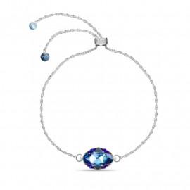 Delia Aquamarine Metallic Blue