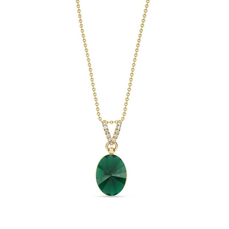 Oval Chic Emerald