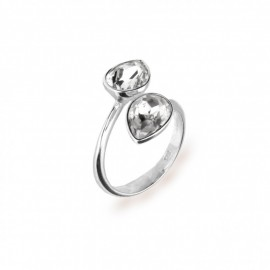 Pear Drop Argento e Spark® nel colore Crystal.
