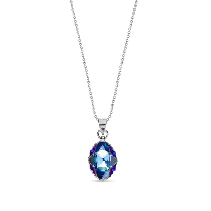Delia Vela Aquamarine Metallic Blue
