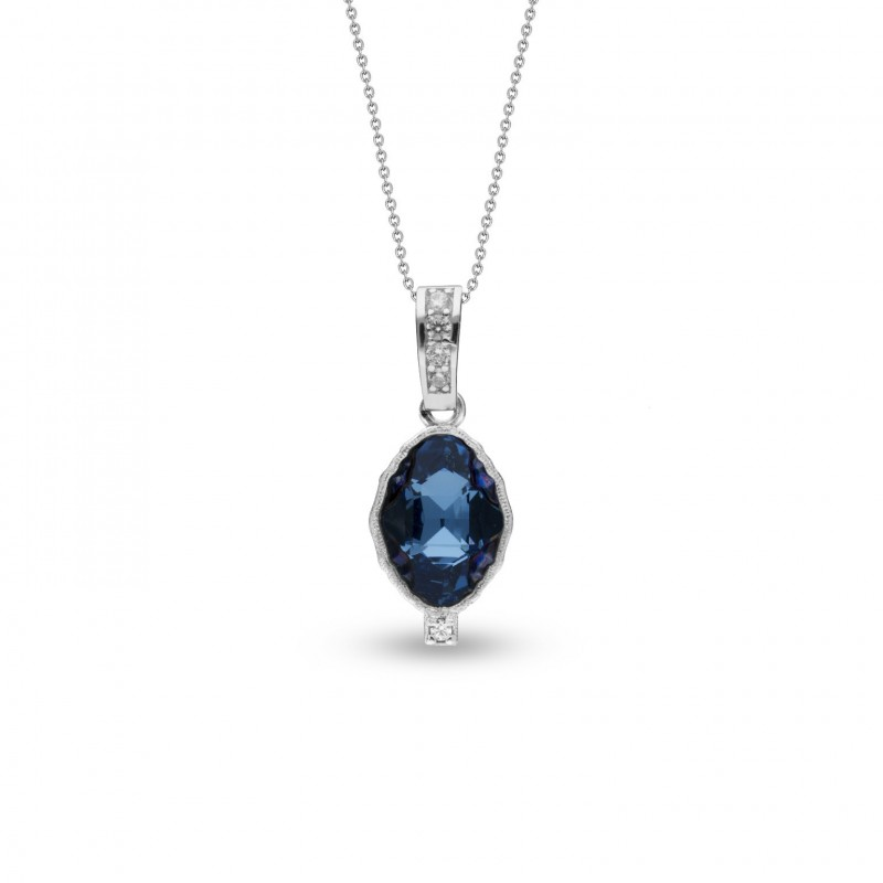 Delia Minor Aquamarine Metallic Blue.