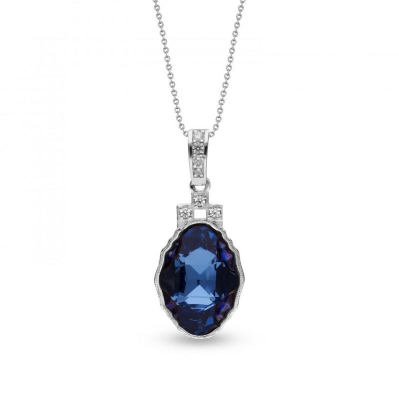 Delia Aquamarine Metallic Blue.