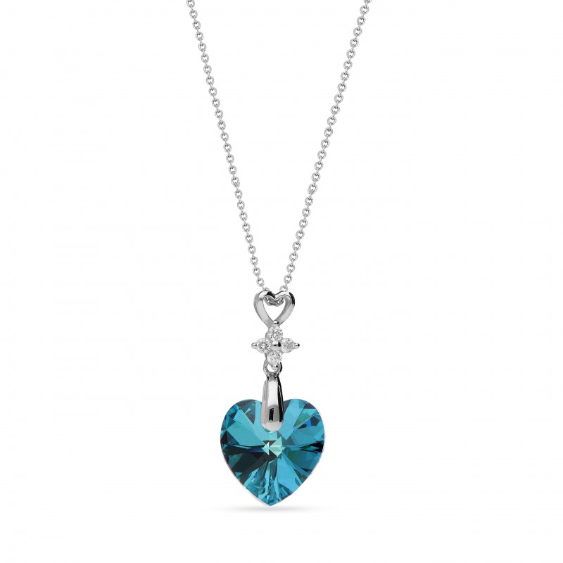 Petite Heart Bermuda Blue.
