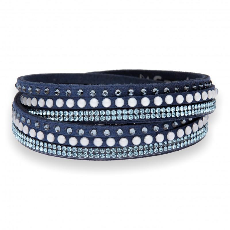 Multistrands Pearl blu e Denim Blue